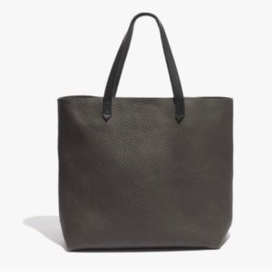 Madewell transport tote gray leather